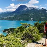 Week End rando et paddle au lac de Serre-Ponçon dans les Hautes-Alpes